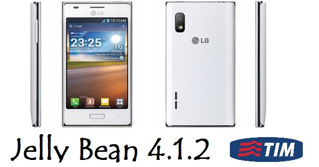 Aggiornamento a Jelly Bean per LG Optimus L5 V20d (TIM)