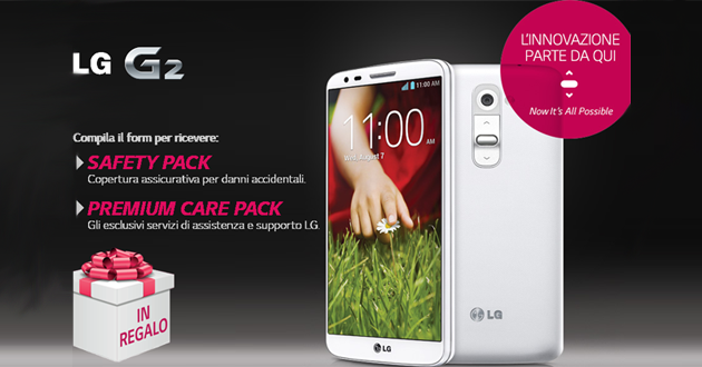 LG regala Safety Pack a tutti i possessori di LG G2